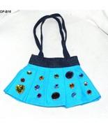 Denim Bright Blue Skirt Purse Handbag for a Little Girl - $8.99