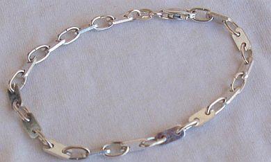 Silver parts bracelet A