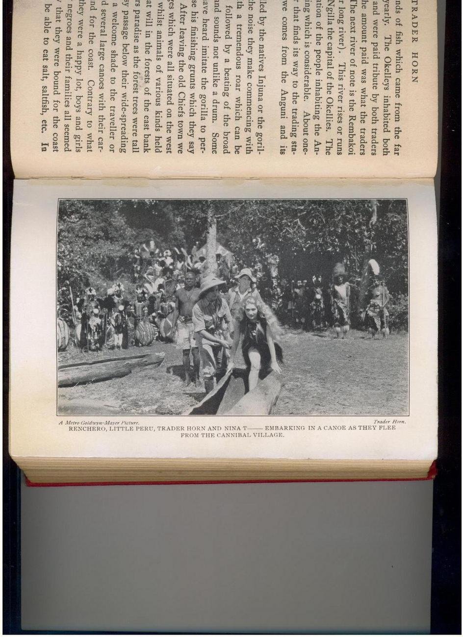 TRADER HORN - 1931 MGM movie edition -  Africa