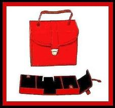 Jewelry Case Box RED Leather & BLACK Suede Many Compartments - $29.99