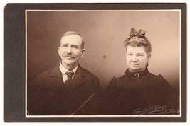Antique Cabinet Photo Older Couple Mannsville Adams NY - $3.95