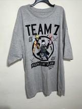 New 2007 Naruto Shippiden Team 7 Gray T-Shirt Size 5XLB Hidden Leaf Village - $28.04