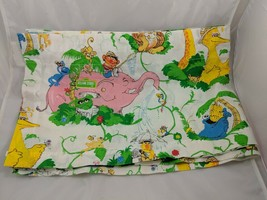 "Sesame Street Valance Curtains Panel Lot of 3 About 40"" x 13.25"" JC Penney - $44.95"