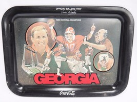 Coca Cola Georgia Bulldog Tray 1980 National Champions Vince Dooley Coac... - $24.74