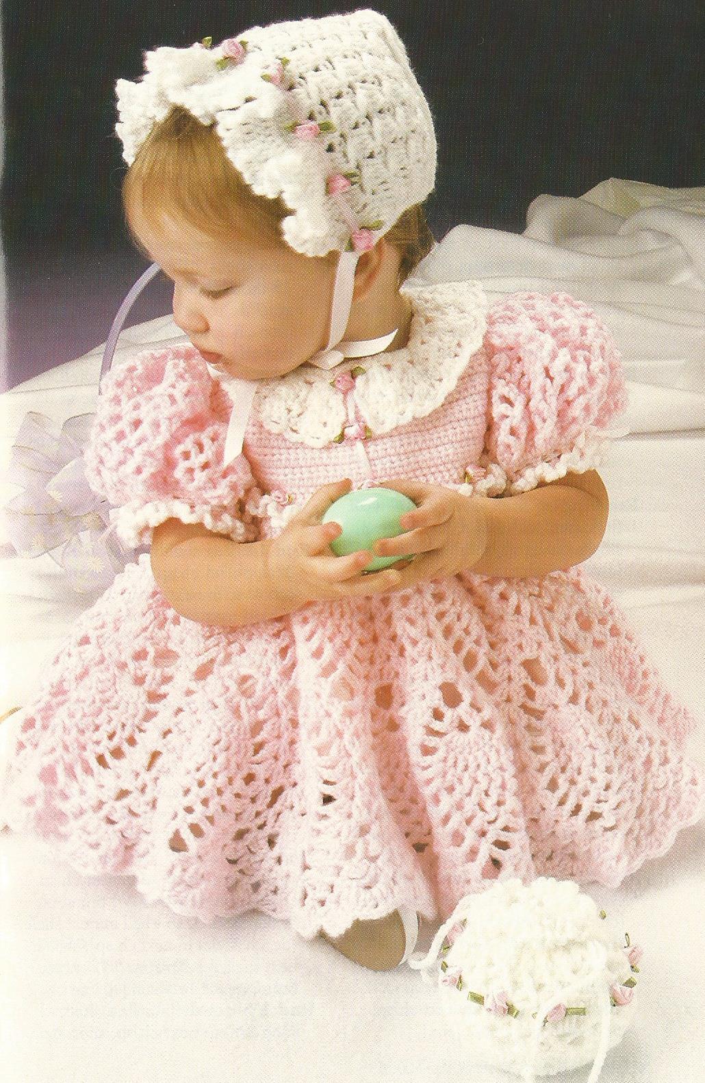 Как связать платье девочке до года крючком