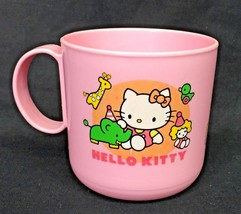 "Vintage Sanrio Hello Kitty Color Pink 3"" Plastic Cup Mug Rainbow Circus ... - $34.95"