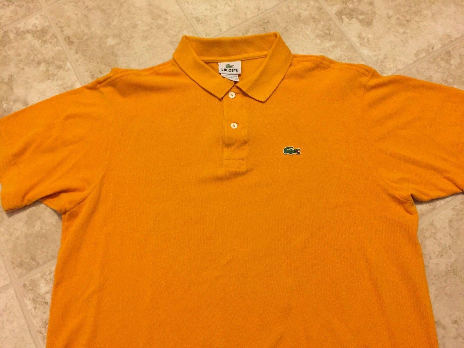 c7e1bcd0 Mens Orange Lacoste Polo Shirt - DREAMWORKS