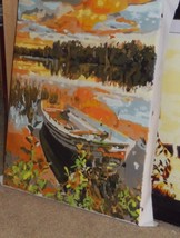 Boat On Lake - Painting - $75.00