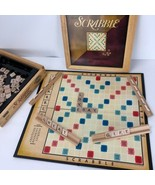 Scrabble Crossword Board Game Wooden Box Nostalgia Series Parker Bros 2002 - $29.69