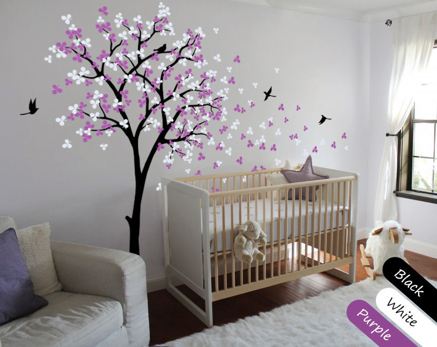 Modern Baby Nursery Wall Decals - Tree Wall Decal - Tree ...