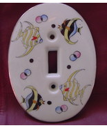 1957 Kelvin Fine China, outlet cover, angel fish - $15.00
