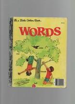 Words - A Little Golden Book - HC - 1974 - A Golden Book - Selma Lola Ch... - $2.48