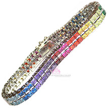 Beauty for Ashes Rainbow CZ Gods Promise Prom Fine Glamour Double Gala B... - $359.00+