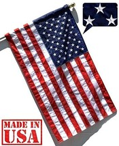 US Flag Factory - 3'x5' US USA American Flag Pole Sleeve Embroidered Sta... - $37.26