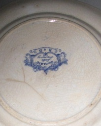 Antique Ontario Lake Scenes Plate, circa 1830