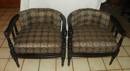 Pair of Retro Barrel Back Armchairs / Club Chairs  (AC103) - $799.00