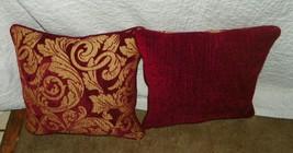 Red & Gold Print Throw Pillows  18 x 18 - $59.95
