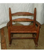 Oak Doll Rocker with Rush Seating / Rocking Chair  (R148) - $119.00