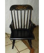 Nichols & Stone Maple Handpainted Child's Rocker / Rocking Chair  (R72) - $249.00