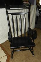 Black Maple Handpainted Rocker / Rocking Chair  (R168) - $449.00