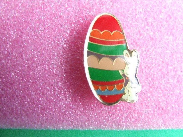 Easter Special Cloissonne' Egg and  Bunny Pin