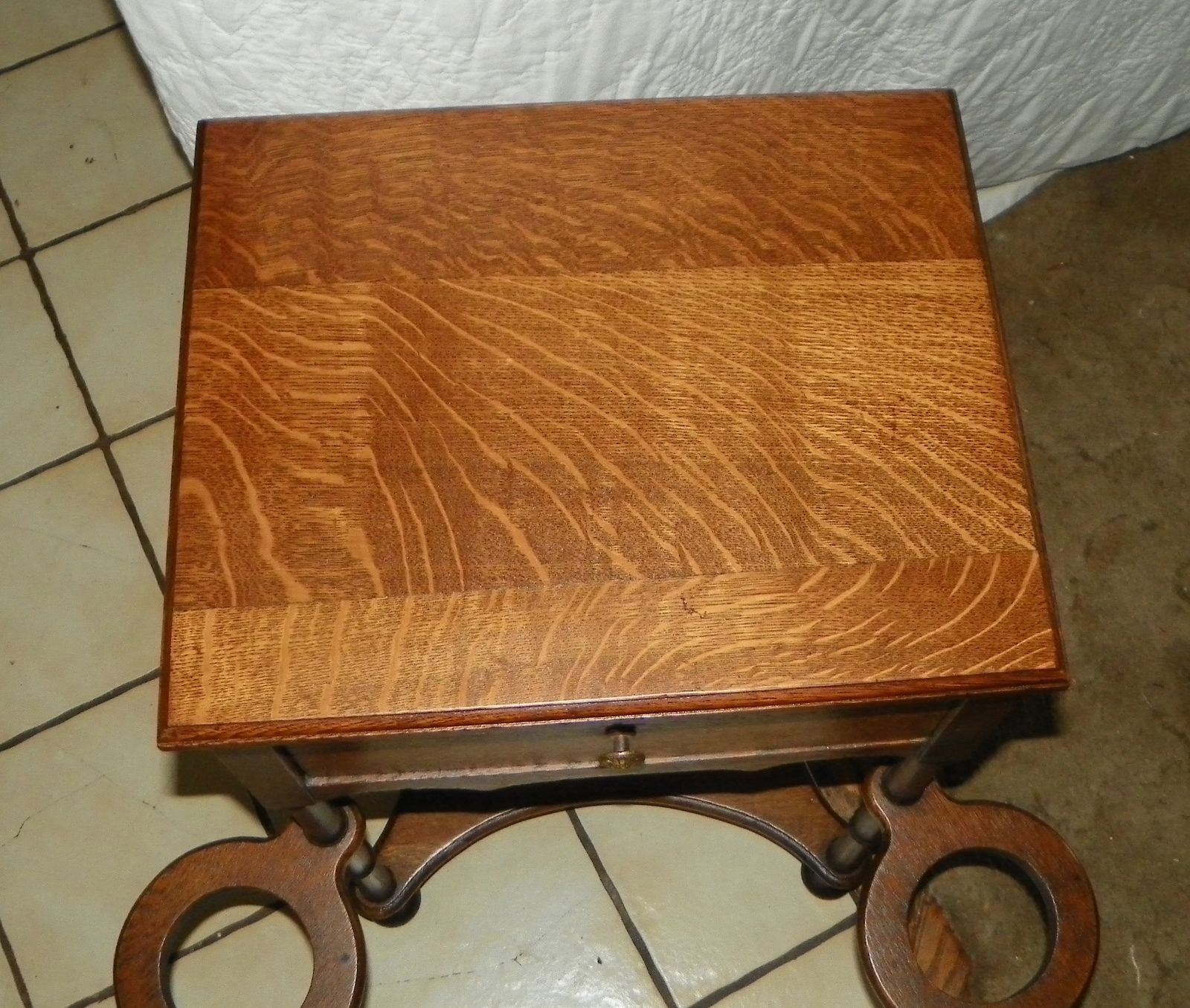 Amazing photo of Quartersawn Oak Smoke Stand / Side Table and 50 similar items with #78471E color and 1600x1355 pixels