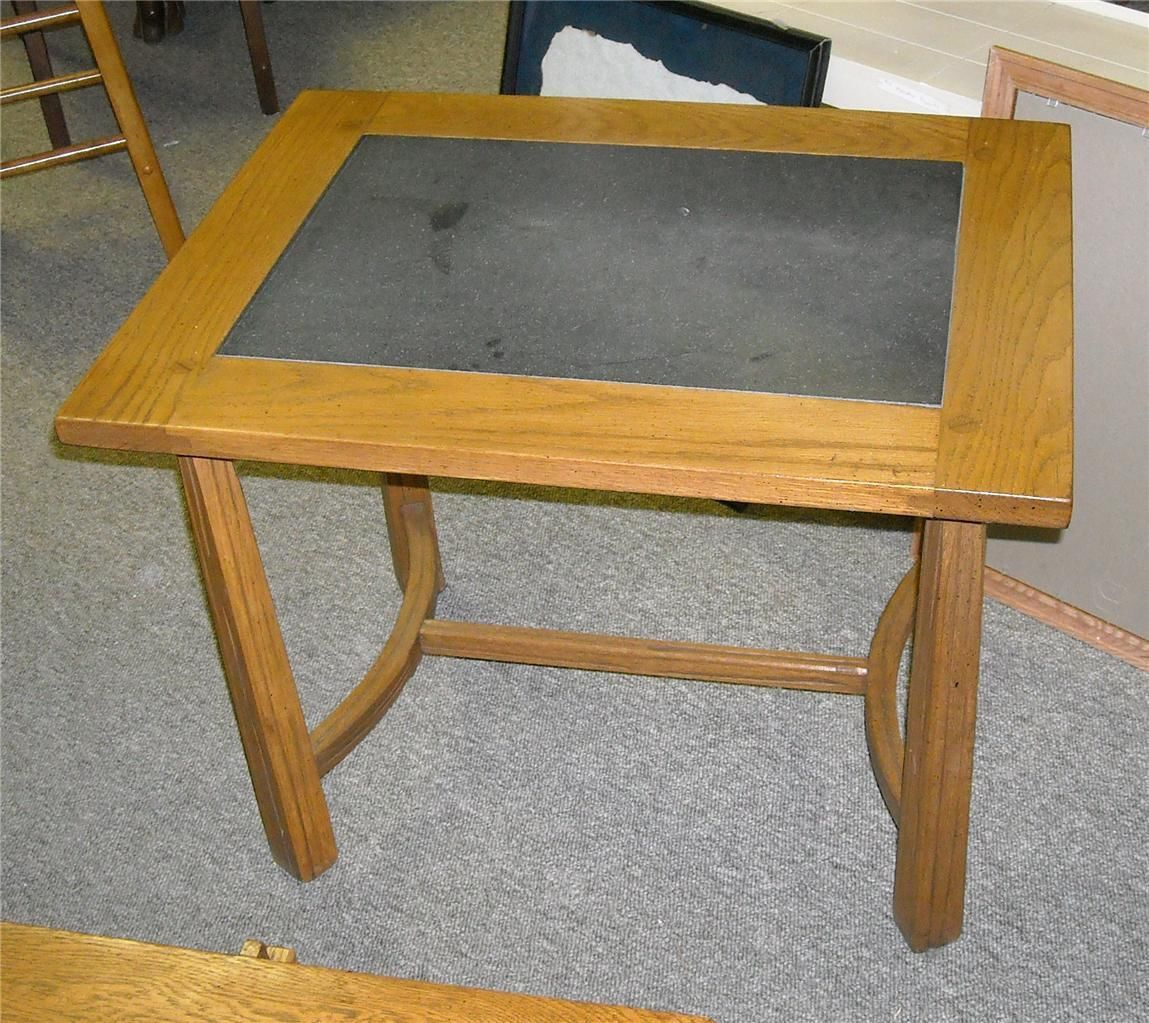 Amazing photo of Ranch Oak End Table Side Table with Black and 50 similar items with #9C7130 color and 1149x1023 pixels