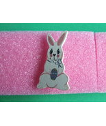 Easter Painted Wooden Bunny Pin Unique item - $3.00