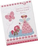 Bucilla Fairytale Princess Baby Birth Record #47665 Cross Stitch Kit New - $13.09