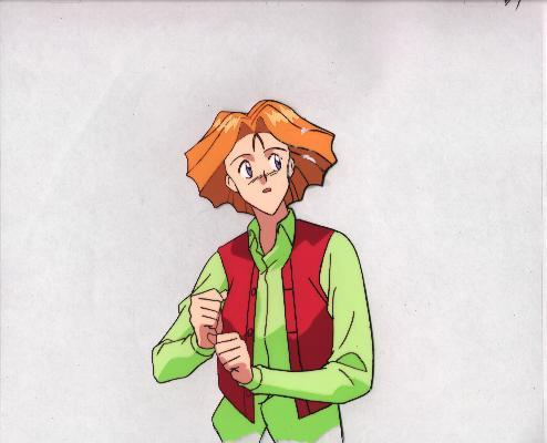 "Ashita e Free Kick ""Orange Hair Guy"" Anime Cel (0207)"