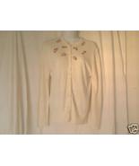 Women's Delicate Flower Appliqué Sweater - $15.00