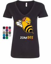 ZomBee Women's V-Neck T-Shirt Zombie Apocalypse Funny Dead Bee Outbreak ... - $10.40+