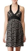 $375 BETSEY JOHNSON SEXY LOVE PRINT SILK MINI HALTER DRESS  4 - $1.625,27 MXN