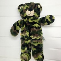 "Build A Bear Plush Camouflage Teddy Bear Green Camo 17"" Stuffed Animal M... - $5.95"