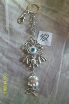 # purse jewelry Halloween Evil Eye keychain backpack filigree dangle cha... - $7.84