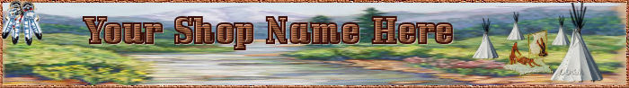 Website Banner Native American Village Professional Quality