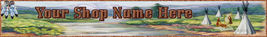 Website Banner Native American Village Professional Quality  - $7.00