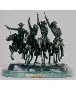 """Frederic Remington Solid American Bronze """"Coming Through the Rye"""" Baby Size - $499.95"""