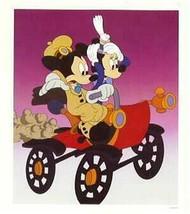 Disney  Mickey Minnie Sunday Drive Car Mark Seppala Lithograph - $29.99