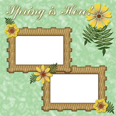 Spring is Here ~ Digital Scrapbooking Quick Page Layou