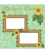 Spring is Here ~ Digital Scrapbooking Quick Page Layou - $3.00