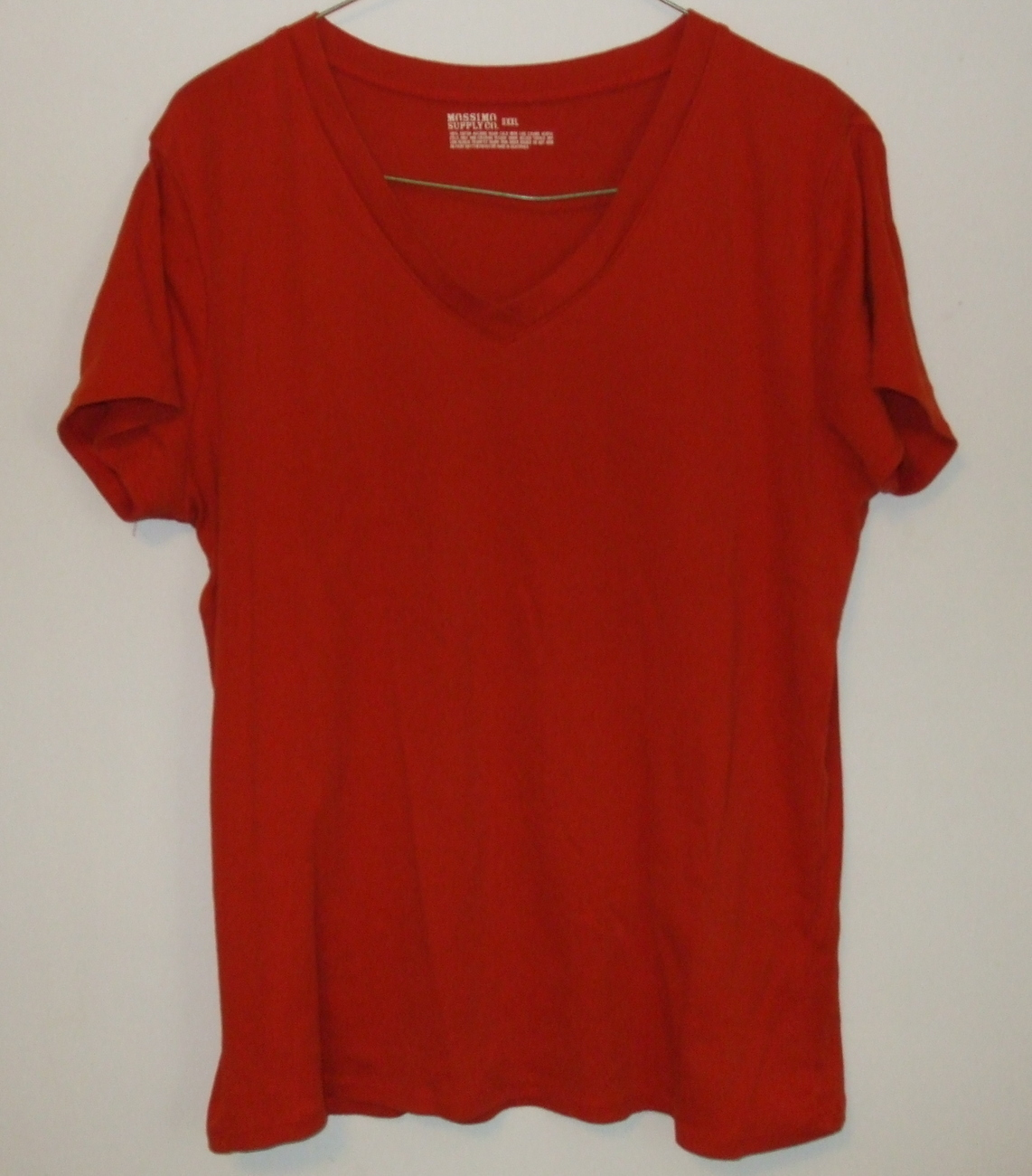 Womens Mossimo Supply Co Burnt Orange Short Sleeve V Neck Top Size XXL - $4.95