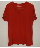 Womens Mossimo Supply Co Burnt Orange Short Sleeve V Neck Top Size XXL - $4.95