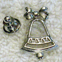 Wedding Bell Lapel Scatter PIN VTG Collectible Avon Tack Back Pin Back B... - $7.91