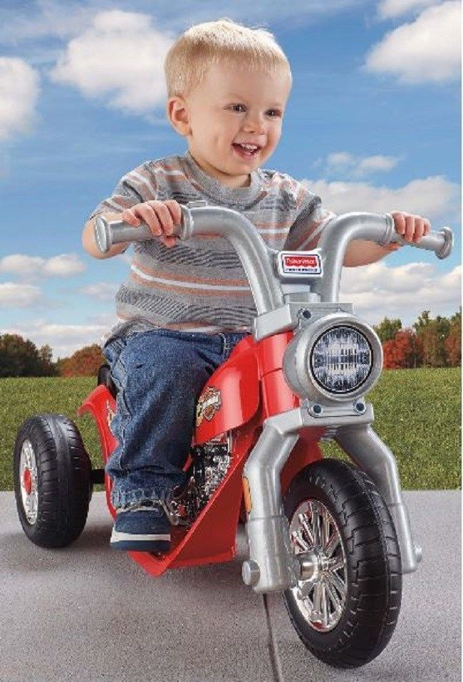 Power Wheels Motorcycle Lil Harley Davidson Battery Operated Recharge Fun Ride
