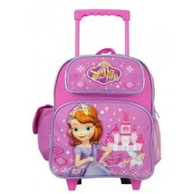 """Disney Sofia the First Princess 12"""" Toddler Rolling Backpack girls carry bag - $53.45"""