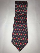 "Red ""Crabs"" Pattern Alynn Neckwear Men's Black 100% Silk Classic Neck Tie - $24.74"