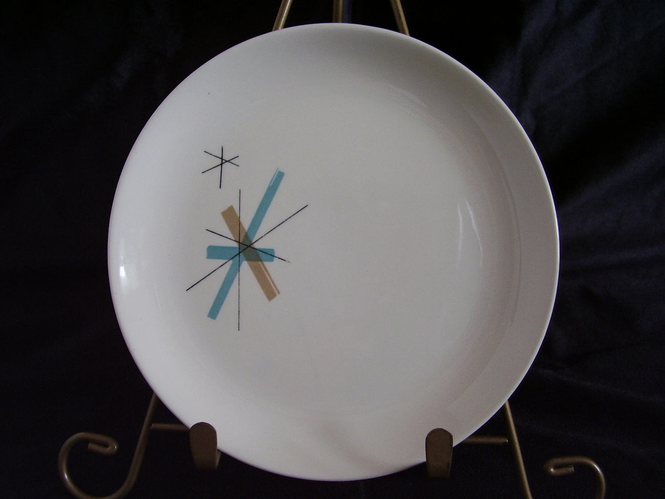Eames Salem China North Star Bread Plate Mid Century