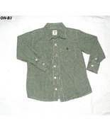 Old Navy Boys Size 5T Green and White Checkered Shirt - $5.99