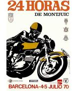 1970 24 Hours Of Montjuic Motorcycle Race - Barcelona Spain - Promotiona... - $9.99+